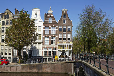 Amsterdam - Old Houses At The Keizersgracht Print by Olaf Schulz