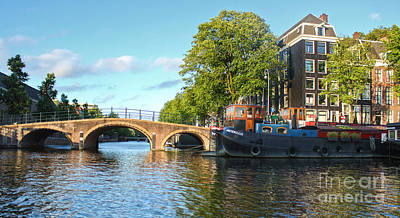 Amsterdam Canal Bridge Print by Gregory Dyer