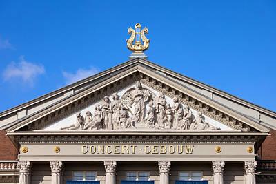 Relief Carving Photograph - Amsterdam Concertgebouw Architectural Details by Artur Bogacki