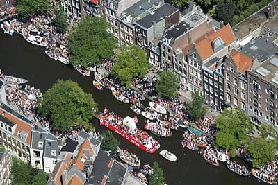 Photograph - Amsterdam Gay Pride Canal Parade 2013 by Bram van de Biezen