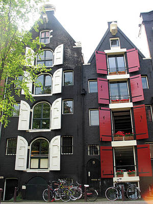 Amsterdam Homes Print by Gerry Bates