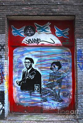 Amsterdam Jazz Graffiti Print by Gregory Dyer
