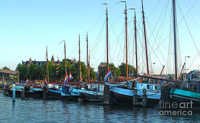 Amsterdam Sailing Ship - 06 Print by Gregory Dyer