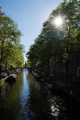 Amsterdam Spring - Green Sunny And Beautiful Print by Georgia Mizuleva