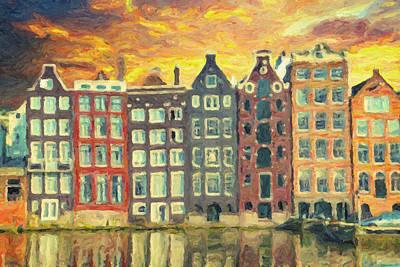Amsterdam Print by Taylan Apukovska