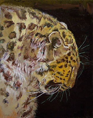 Panther Painting - Amur Leopard by Michael Creese