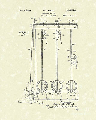 Amusement Device 1938 Patent Art Print by Prior Art Design