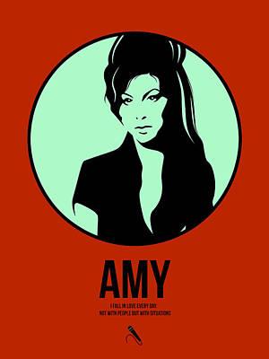 Amy Digital Art - Amy Poster 1 by Naxart Studio