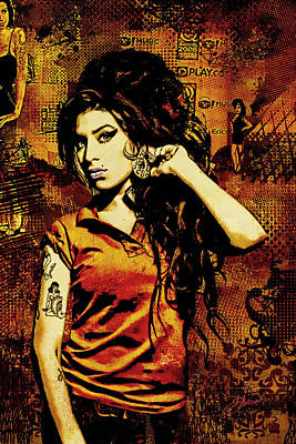 Amy Winehouse 24x36 Mm Reg Print by Dancin Artworks