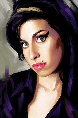 Amy Winehouse Artwork 1 Print by Sheraz A