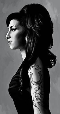 Amy Winehouse Artwork  2 Print by Sheraz A