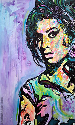 Painting - Amy Winehouse Original Art by Dean Russo