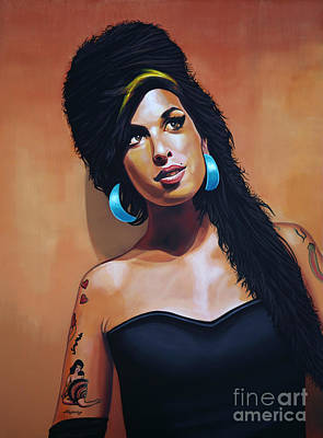 Bands Painting - Amy Winehouse by Paul Meijering