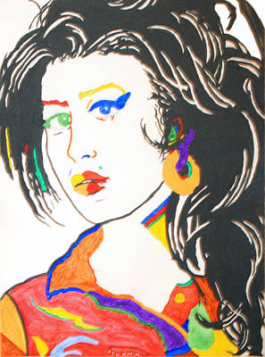 Blues Painting - Amy Winehouse by Stormm Bradshaw