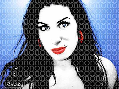 Amy Winehouse Print by Tony Rubino