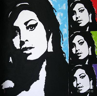 Modernism Mixed Media - Amy Winehouse by Venus