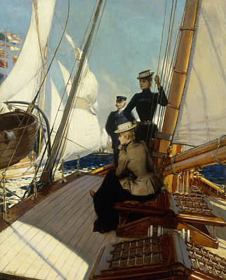 Pleasant Painting - An Afternoon At Sea  by Albert Lynch