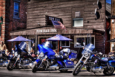 Harley Photograph - An Afternoon At The Tow Bar Inn by David Patterson