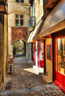 Storefront Photograph - An Alley In Avignon by Mel Steinhauer
