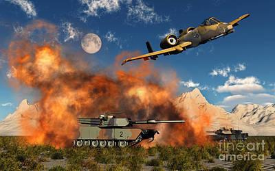 An American A-10 Thunderbolt Using Print by Mark Stevenson