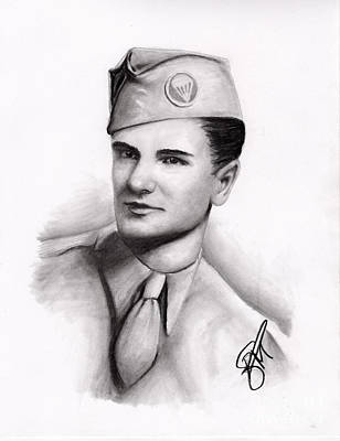 Markle Drawing - An American Hero by Rosalinda Markle