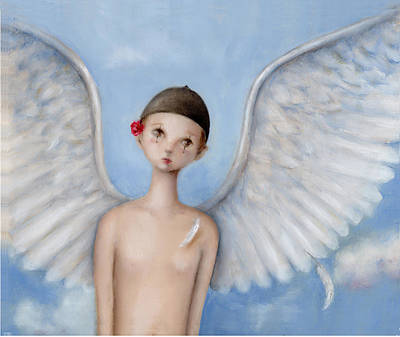 Healing Art Painting - An Angel Coming Home by Junko Van Norman