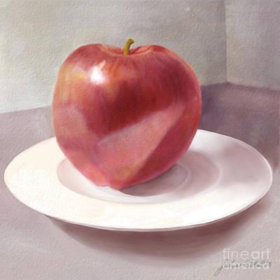 An Apple For Sue Print by Joan A Hamilton