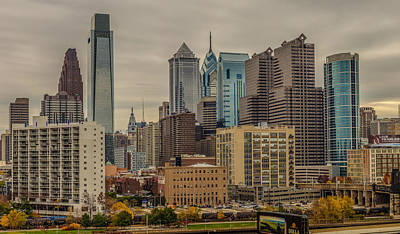 Philadelphia Skyline Mixed Media - An Approaching Front by Capt Gerry Hare