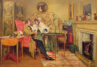 An Attentive Visitor Print by Walter Dendy Sadler