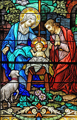 Holy Family Photograph - An Authentic Merry Christmas by Bonnie Barry