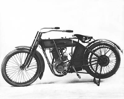 An Early Harley-davidson Print by Underwood Archives