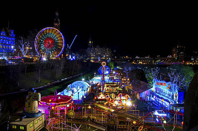 Helter-skelter Photograph - An Edinburgh Christmas by Ross G Strachan