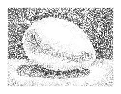 White Drawing - An Egg Study Three by Irina Sztukowski