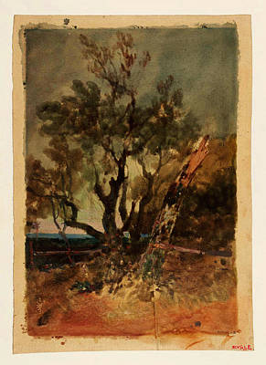 Tree At Sunset Painting - An Evening Effect Trees At Knockholt by Celestial Images