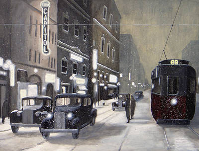 An Evening On Portage Avenue Original by Dave Rheaume