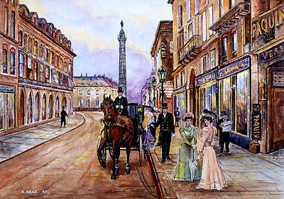 Old Street Painting - An Evening Out by Andrew Read
