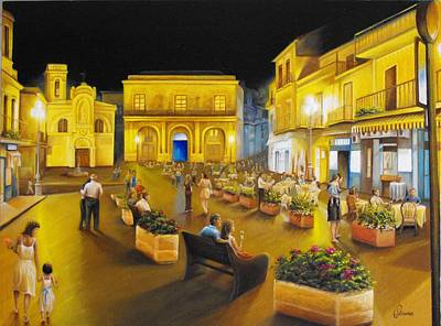 Italian Wine Painting - An Evening Under The Stars by Chris Skinner