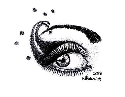 Eyelash Drawing - An Eye For Art by Kayleigh Semeniuk