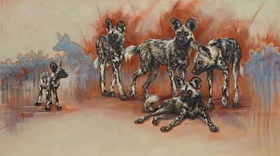 Dog Painting - An Eye On The Prize by Cynthia House