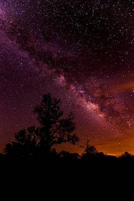 An Image Worth 520 Miles - Milky Way At Enchanted Rock Texas Hill Country Print by Silvio Ligutti