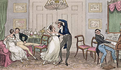 Jane Austen Drawing - An Introduction Gay Moments Of Logic by I. Robert & George Cruikshank