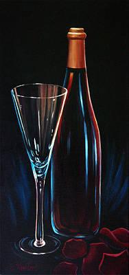 Wine Painting - An Invitation To Romance by Sandi Whetzel