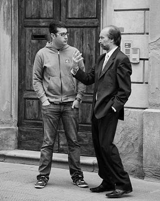Hands Photograph - An Italian Conversation by Hugh Smith
