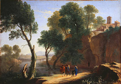 An Italian Landscape Print by Herman van Swanevelt
