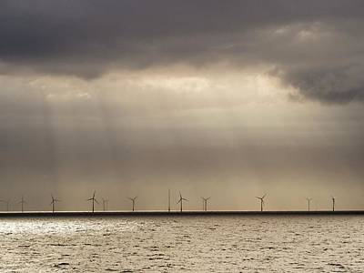 An Offshore Wind Farm In Dutch Waters Print by Ashley Cooper