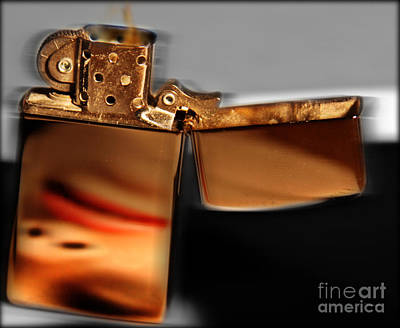 Cigarettes Photograph - An Old Flame by Steven  Digman