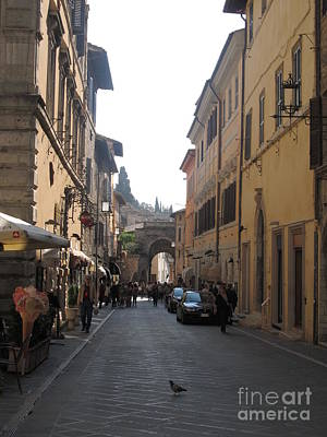 Street Digital Art - An Old Street In Assisi Italy  by Anthony Morretta