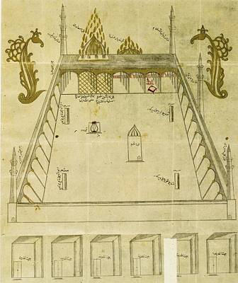 Synagogue Painting - An Ottoman Illustration Of The Prophet's Tomb In Medina by Celestial Images