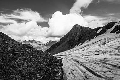 An Unnamed Glacier Flows Print by Zachary Sheldon