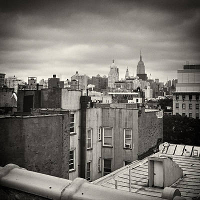 East Village Photograph - Analog Photography - New York Roofscape by Alexander Voss